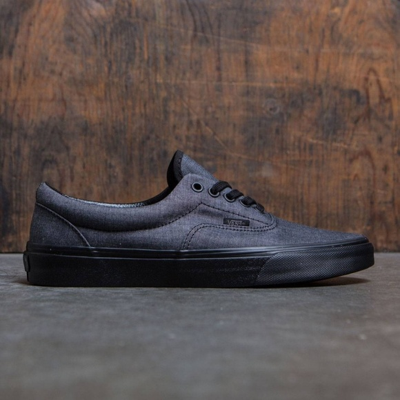 0700838fe6 NIB Men s Vans Era Chambray Black Shoes  11M